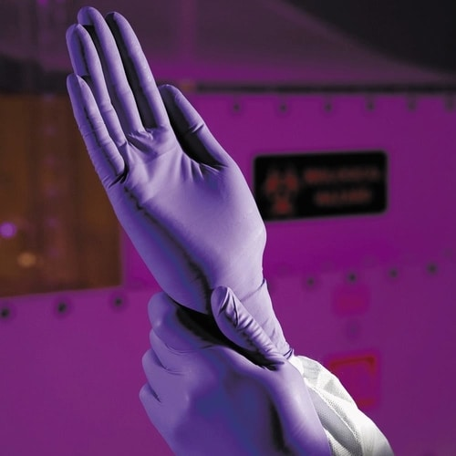 kimberly clark purple nitrile cleanroom gloves