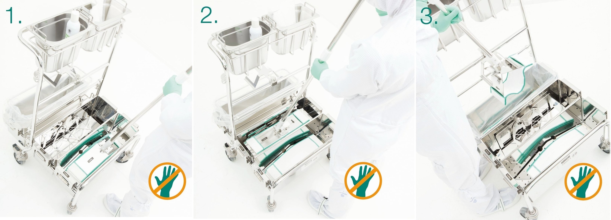 image representing touchless sterile cleanroom mopping system